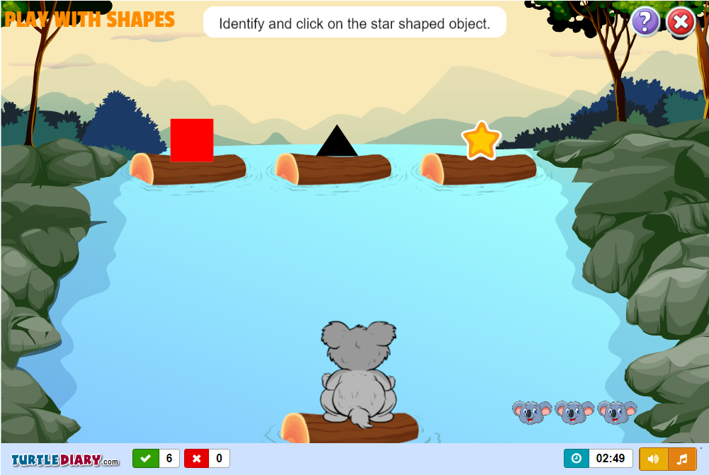 shapes games year 1