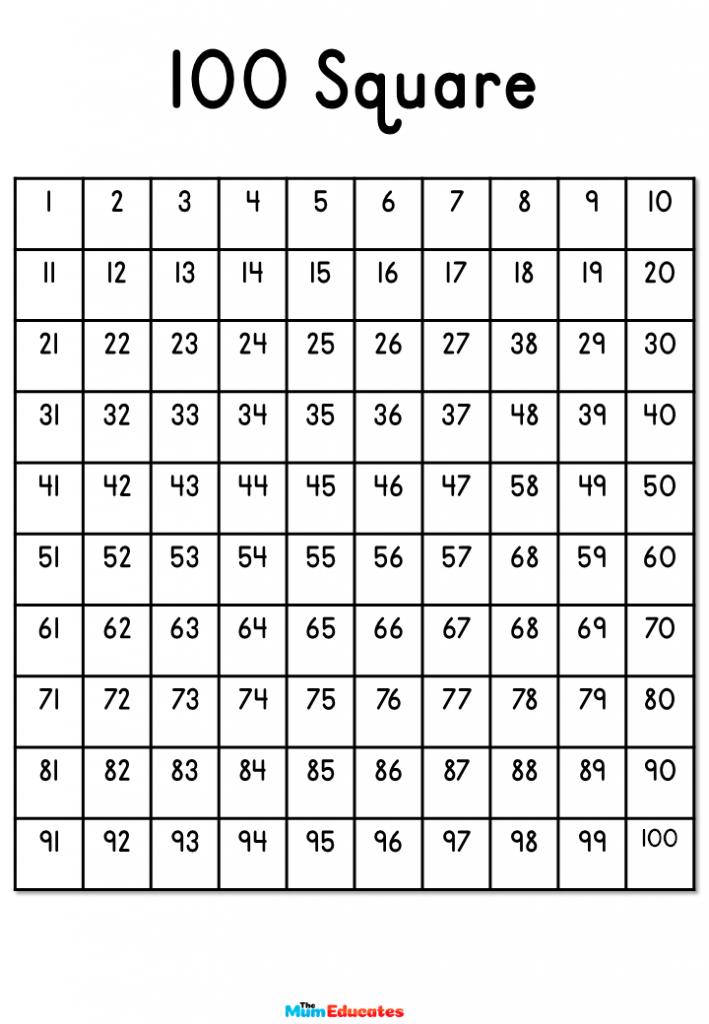 plain 100 square